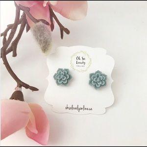3/$30 succulent earrings